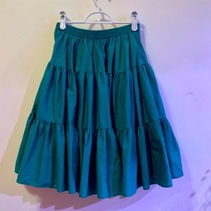 Vintage Malco Modes teal, tiered skirt